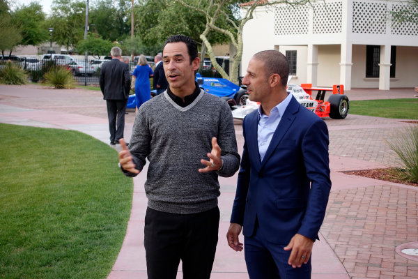 Verizon IndyCar Series Desert Diamond West Valley Phoenix Grand Prix Phoenix Raceway, Avondale, AZ USA Saturday 28 May 2016 Helio Castroneves and Tony Kanaan celebrate their 20 years in IndyCar World Copyright: Michael L. Levitt LAT Images