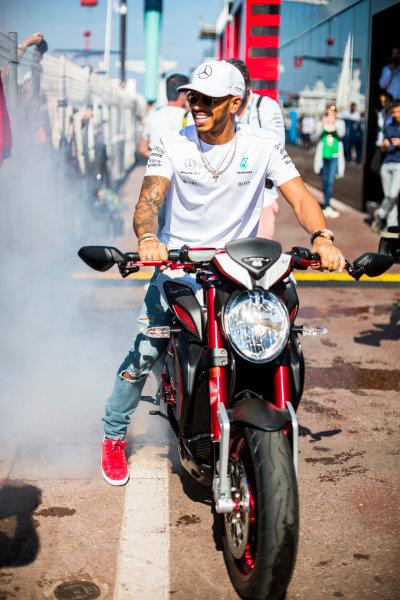 Monte Carlo, Monaco. Wednesday 24 May 2017. Lewis Hamilton, Mercedes AMG.  World Copyright: Sam Bloxham/LAT Images ref: Digital Image _W6I0525