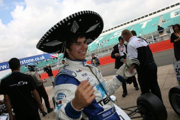 2007 British Formula Three Championship.Silverstone, England. 11th and 12th August 2007.Sergio Perez (MEX) T-Sport Dallara Mugen HondaWorld Copyright: Jakob Ebrey/LAT Photographic.