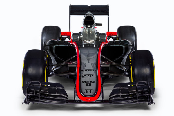 McLaren Honda MP4-30 Reveal Woking, UK. 29 January 2015 The McLaren Honda MP4-30. Photo: McLaren (Copyright Free FOR EDITORIAL USE ONLY) ref: Digital Image MP4-30 - Low front on