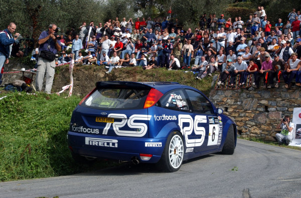 2002 World Rally Championship.Rallye d'Italia, 20-22 September.Sanremo, Italy.Markko Martin during shakedown.Photo: Ralph Hardwick/LAT