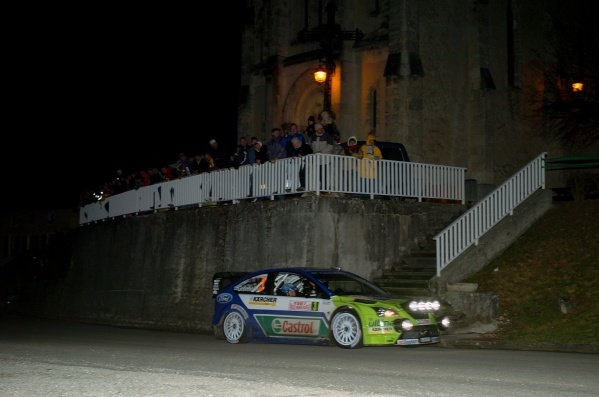FIA World Rally Championship, Rd1, January 18-21, 2007 Rallye Monte Carlo, Valence, France. Leg 1, Thursday January 18, 2007. Marcus Gronholm (FIN) on stage 1. DIGITAL IMAGE