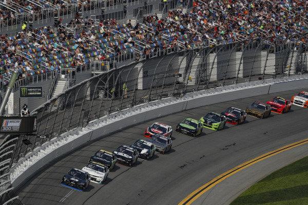 #18: Jeffrey Earnhardt, Joe Gibbs Racing, Toyota Supra iK9 leads