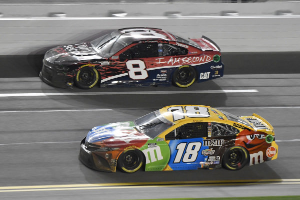 #18: Kyle Busch, Joe Gibbs Racing, Toyota Camry M&M's #8: Tyler Reddick, Richard Childress Racing, Chevrolet