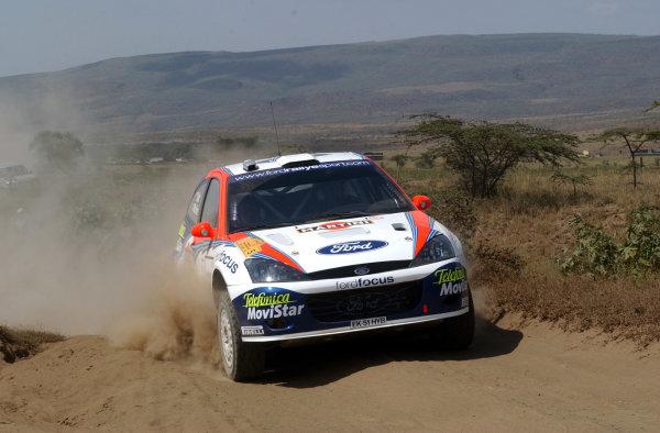 2002 World Rally Championship.Safari Rally, Nairobi Kenya, July 11-14th.Colin McRae during shakedown.Photo: Ralph Hardwick/LAT