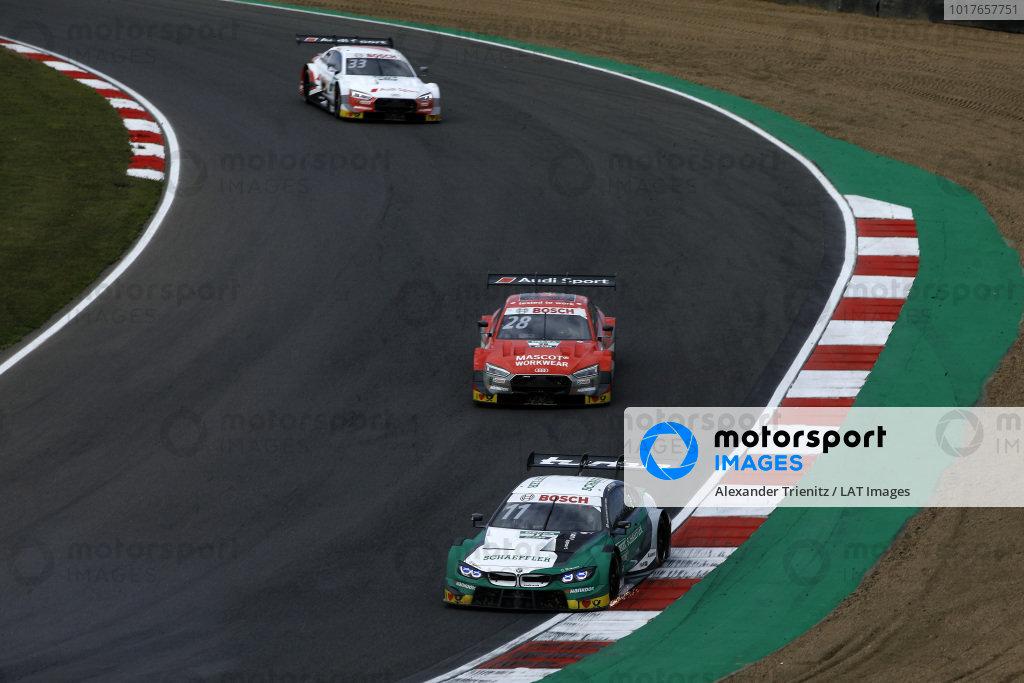 Marco Wittmann, BMW Team RMG, BMW M4 DTM, Loic Duval, Audi Sport Team Phoenix, Audi RS 5 DTM, René Rast, Audi Sport Team Rosberg, Audi RS 5 DTM.