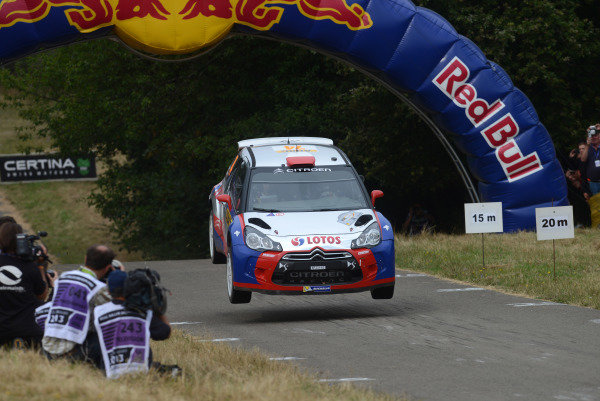 Robert Kubica (POL) and Maciek Baran (POL), Citroen DS3 RRC on stage 11.FIA World Rally Championship, Rd9, ADAC Rally Germany, Day Three, Trier, Germany, 24 August 2013.