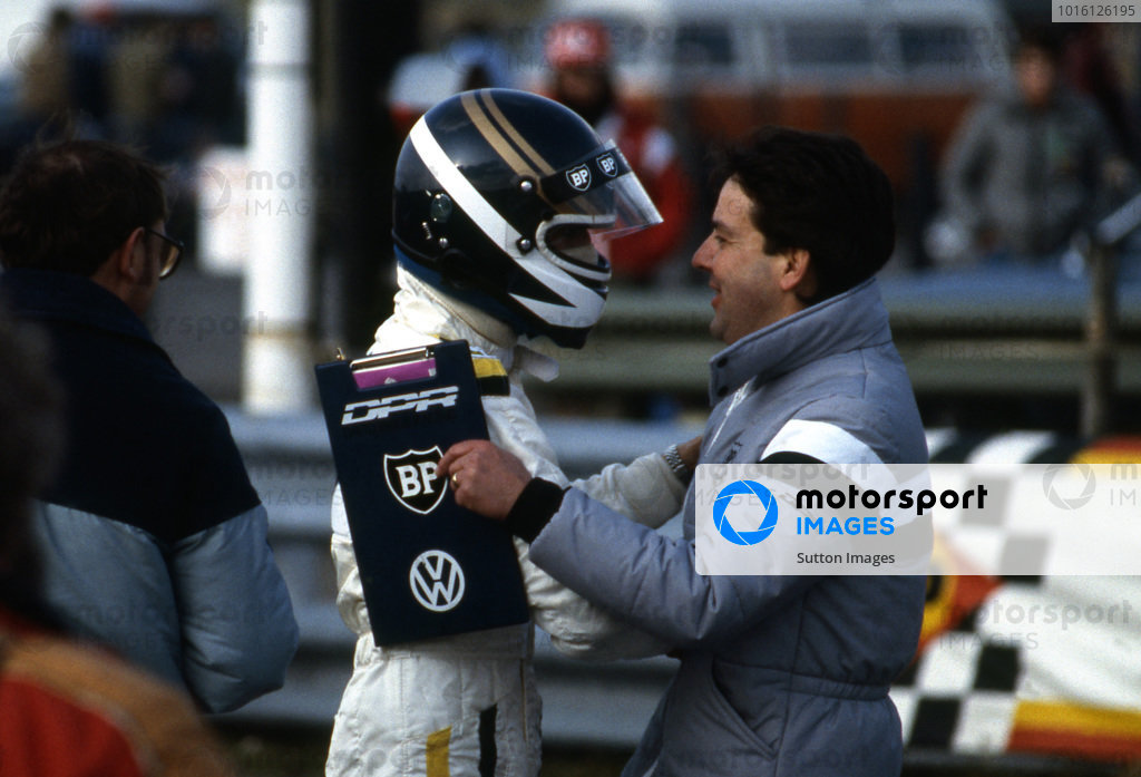 Johnny Dumfries (GBR) Ralt RT3/84 Volkswagen, David Price Racing won the 1984 championship. British Formula Three Championship, 1984.