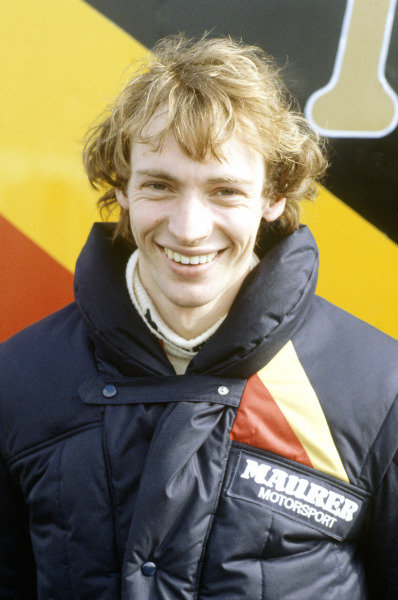 Silverstone, England. 20th March 1983. Rd 1.Stefan Bellof, Maurer MM83-BMW, 4th position, portrait.World Copyright: LAT Photographic.