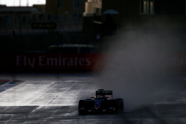 Sochi Autodrom, Sochi, Russia. Friday 09 October 2015. Marcus Ericsson, Sauber C34 Ferrari. World Copyright: Steven Tee/LAT Photographic. ref: Digital Image _L4R3699