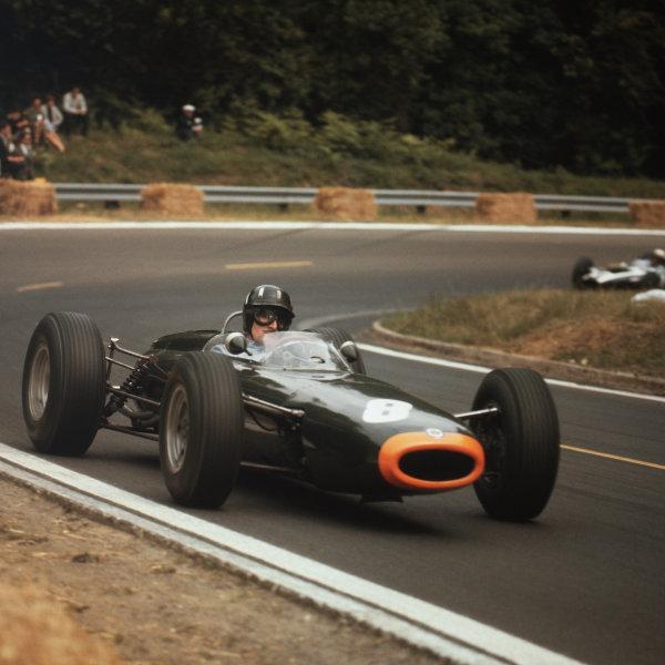 Rouen-les-Essarts, France.26-28 June 1964.Graham Hill (BRM P261) 2nd position.Ref-3/1304A.World Copyright - LAT Photographic