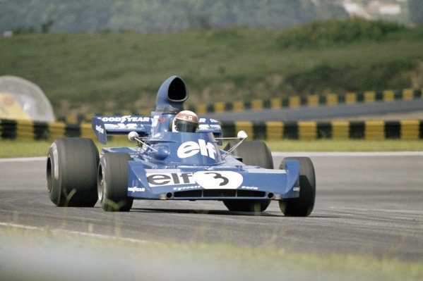 1973 Brazilian Grand Prix.Interlagos, Brazil. 11 February 1973.Jackie Stewart, Tyrrell 005-Ford, 2nd position, action.World Copyright: LAT PhotographicRef: 35mm transparency 73BRA