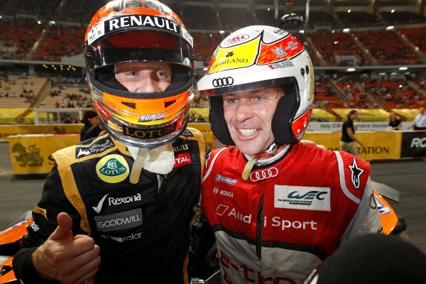 Rajamangala Stadium, Bangkok, Thailand 13th - 16th December 2012 Champion of Champions Romain Grosjean with runner-.World Copyright: IMP (USAGE FREE FOR EDITORIAL PURPOSES ONLY)