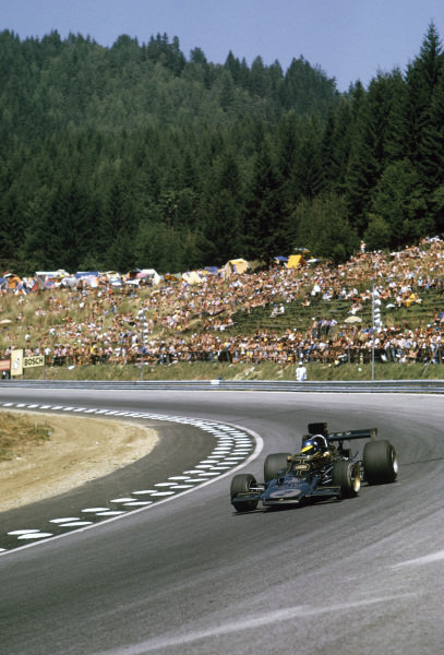 1973 Austrian Grand Prix.  Osterreichring, Zeltweg, Austria. 17-19th October 1973.  Ronnie Peterson, Lotus 72D-Ford Cosworth, 1st position.  Ref: 73AUT71. World Copyright: LAT Photographic