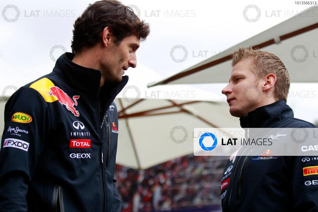 Albert Park, Melbourne, Australia25th March 2011.Mark Webber, Red Bull Racing RB7 Renault.World Copyright: Charles Coates/LAT Photographicref: Digital Image _X5J7603
