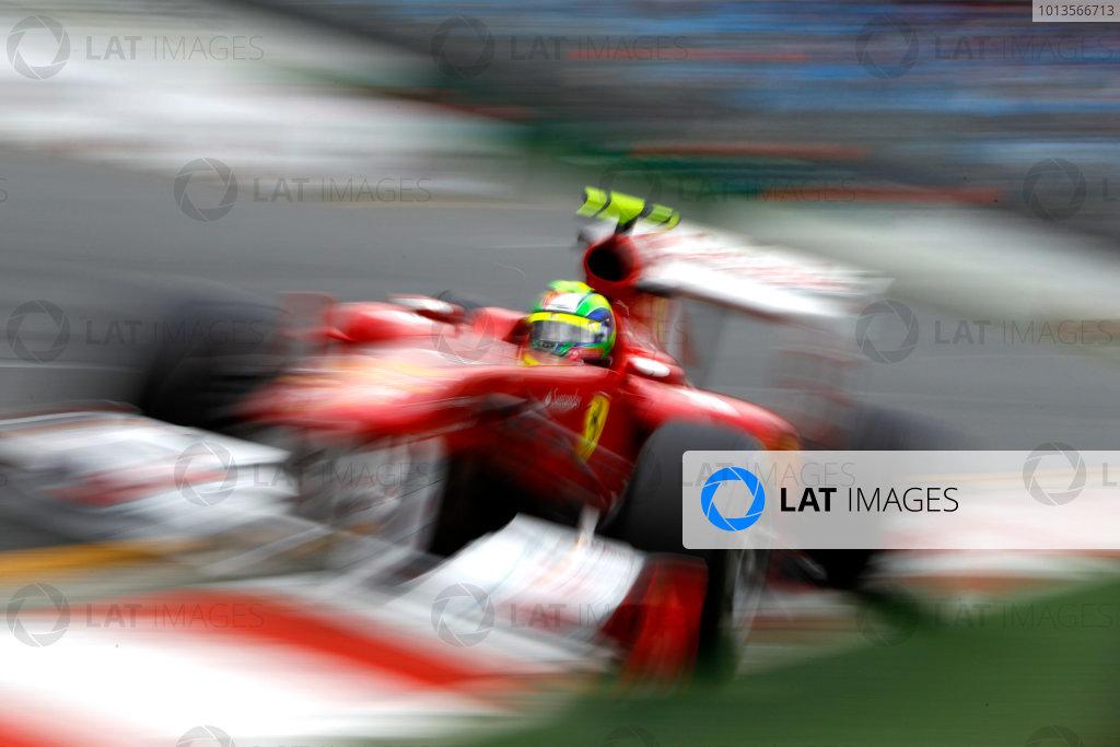Albert Park, Melbourne, Australia 25th March 2011. Felipe Massa, Ferrari 150° Italia. Action.  World Copyright: Glenn Dunbar/LAT Photographic ref: Digital Image _G7C3514