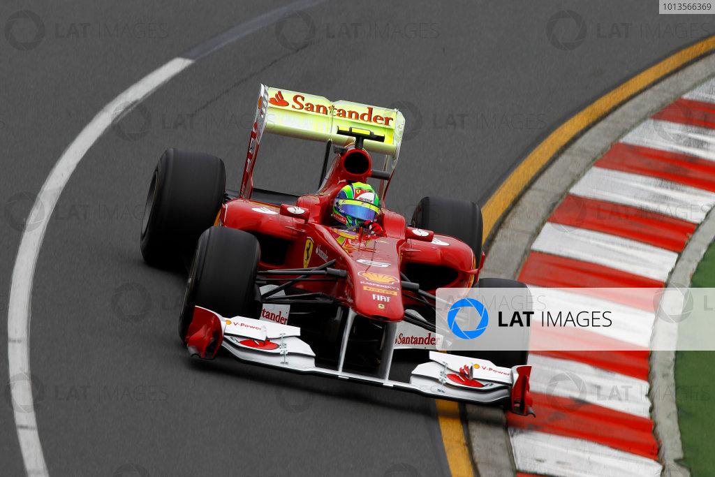 Albert Park, Melbourne, Australia 25th March 2011. Felipe Massa, Ferrari 150° Italia. Action.  World Copyright: Andrew Ferraro/LAT Photographic ref: Digital Image _Q0C7895
