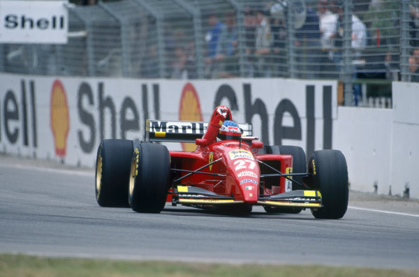 Adelaide, Australia. 10-12 November 1995. Jean Alesi, Ferrari 412T2, retired, action. Ref-95 AUS 58 World Copyright - LAT Photographic