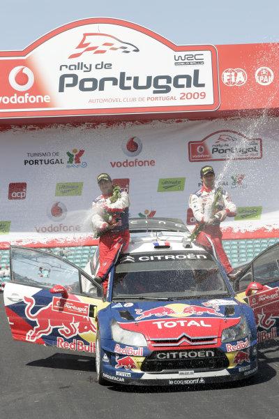 Round 04Rally Portugal 2- 5 of April 2009Sebastien Loeb, Citroen WRC, PodiumWorldwide Copyright: McKlein/LAT