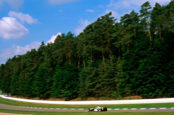 Hockenheim, Germany.25-27 July 1997.Mika Hakkinen (McLaren MP4/12 Mercedes) 3rd position.Ref-97 GER 08.World Copyright - LAT Photographic