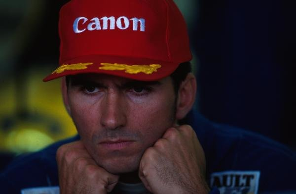 Damon Hill, unhappy after missing out on his first Grand Prix victory. German Grand Prix, Hockenheim, 25 July 1993