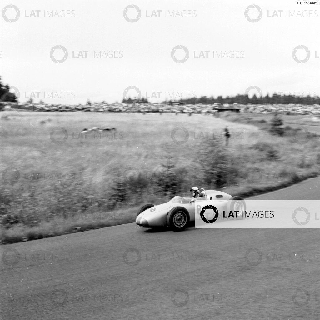 1961 German Grand Prix, Nurburgring, Germany.Jo Bonnier (Porsche 718).Ref-9843.World - LAT Photographic