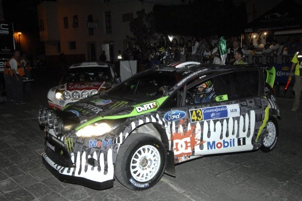 Ken Block (USA), Ford Fiesta RS WRC, fails to start the first stage.