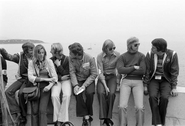 L to R: Max Mosley(GBR), Helmut Marko(AUT), Rolf Stommelen(GER), Ronnie Peterson(SWE), Reine Wisell(SWE) and Robin Herd(GBR) Monaco GP, May 14, 1972