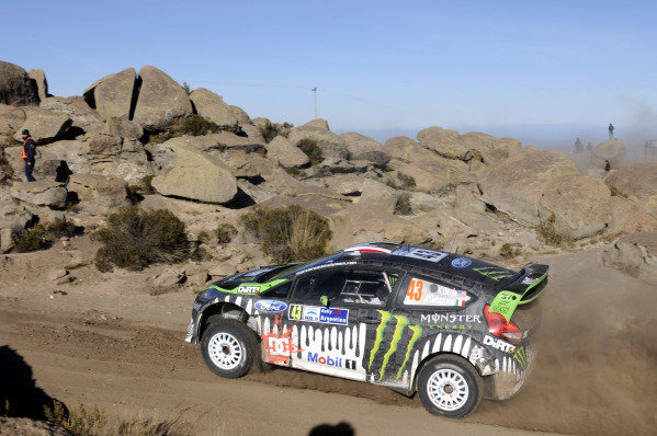 Ken Block (USA), Ford Fiesta RS WRC, on stage 3.World Rally Championship, Rd6, Rally Argentina, Villa Carlos Paz, Cordoba, Argentina, Day One, Friday 27 May 2011.