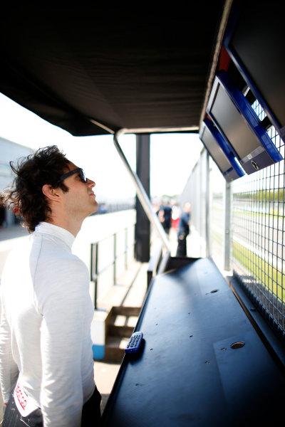 FIA Formula E Test Day, Donington Park, UK.  9th - 10th July 2014.  Bruno Senna, Mahindra Racing. Photo: Glenn Dunbar/FIA Formula E ref: Digital Image _W2Q9736