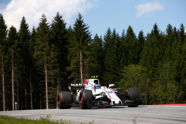 Red Bull Ring, Spielberg, Austria. Friday 7 July 2017. Lance Stroll, Williams FW40 Mercedes. World Copyright: Andrew Hone/LAT Images ref: Digital Image _ONZ9893