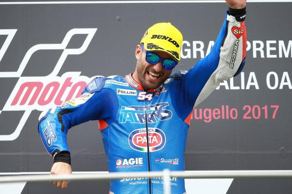 2017 Moto2 Championship - Round 6 Mugello, Italy Sunday 4 June 2017 Podium: Race winner Mattia Pasini, Italtrans Racing Team race World Copyright: Gold & Goose Photography/LAT Images ref: Digital Image 674647