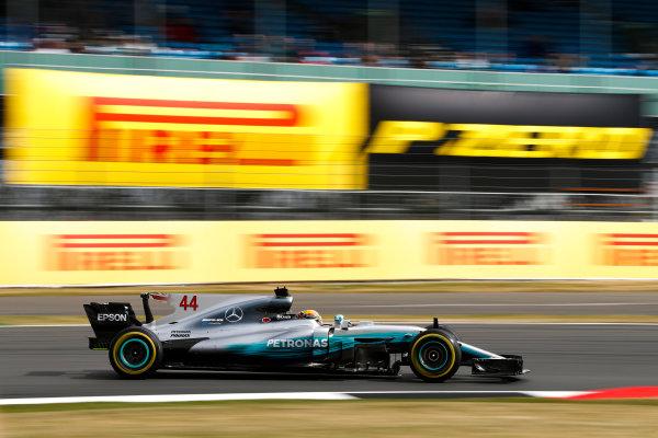 Silverstone, Northamptonshire, UK.  Friday 14 July 2017. Lewis Hamilton, Mercedes F1 W08 EQ Power+. World Copyright: Glenn Dunbar/LAT Images  ref: Digital Image _31I2873