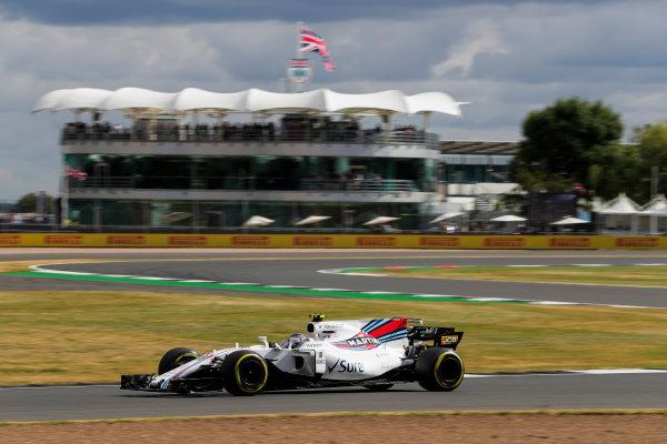 Silverstone, Northamptonshire, UK.  Friday 14 July 2017. Lance Stroll, Williams FW40 Mercedes. World Copyright: Zak Mauger/LAT Images  ref: Digital Image _54I4439