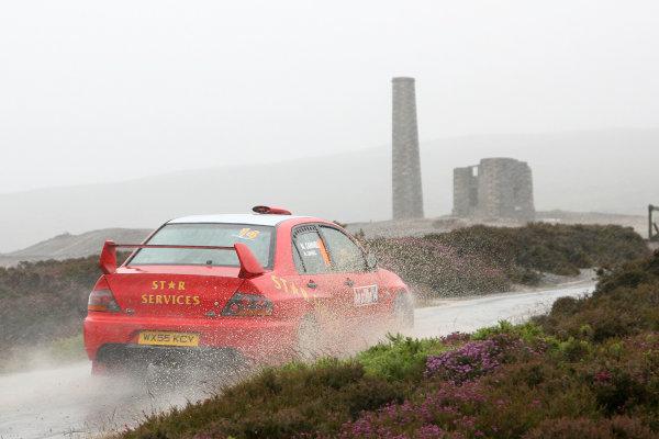 Isle of Man. 9th - 10th July 2010.Nigel Cannell/Michaela Cannell - Mitsubishi Lancer Evo 9.World Copyright: Ebrey LAT Photographic.
