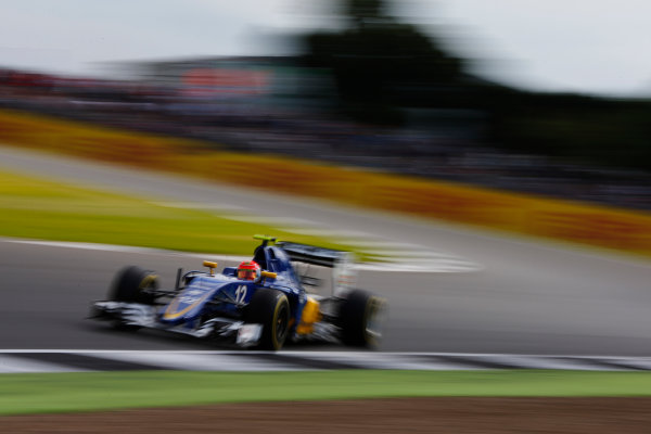 Silverstone, Northamptonshire, UK Friday 8 July 2016. Felipe Nasr, Sauber C35 Ferrari. World Copyright: Hone/LAT Photographic ref: Digital Image _ONZ9925