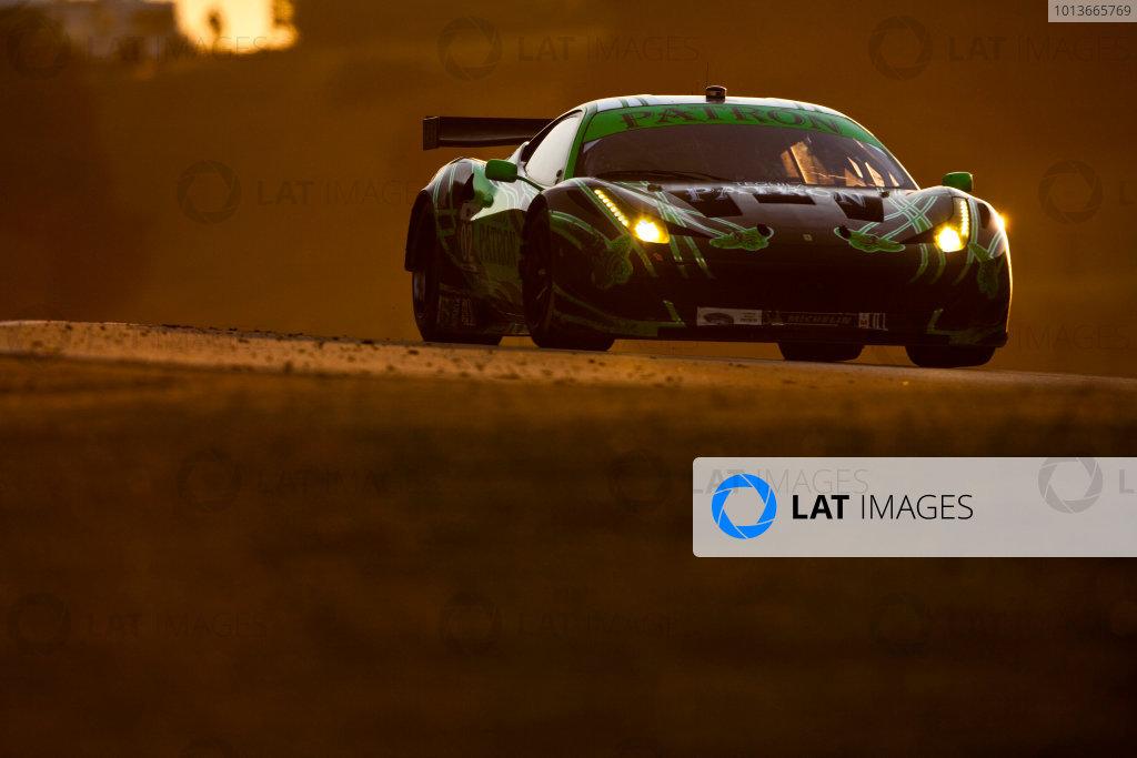 American Le Mans Series. Laguna Seca, Monterey, California. 15th - 17th September 2011. Ed Brown / Guy Cosmo, Extreme Speed Motorsports, Ferrari 458 Italia.  Action. Photo: Drew Gibson/LAT Photographic. ref: Digital Image _Y2Z7065