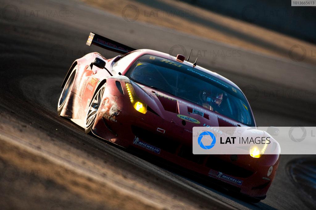American Le Mans Series. Laguna Seca, Monterey, California. 15th - 17th September 2011. Jaime Melo / Toni Vilander, Risi Competizione, Ferrari F458 Italia.  Action. Photo: Drew Gibson/LAT Photographic. ref: Digital Image _Y2Z6893
