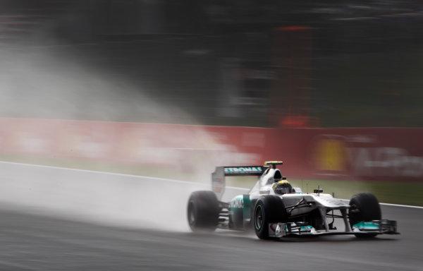 Spa-Francorchamps, Spa, Belgium 26th August 2011. Nico Rosberg, Mercedes GP W02. Action.  World Copyright: Steve Etherington/LAT Photographic ref: Digital Image SNE20308