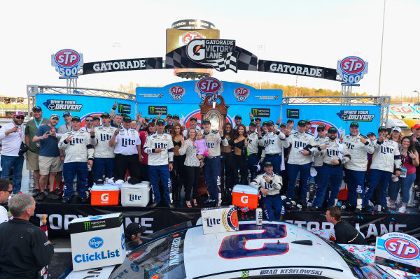 2017 Monster Energy NASCAR Cup Series STP 500 Martinsville Speedway, Martinsville, VA USA Sunday 2 April 2017 Brad Keselowski and team celebrate in victory lane World Copyright: Logan Whitton/LAT Images ref: Digital Image 17MART1LW2770