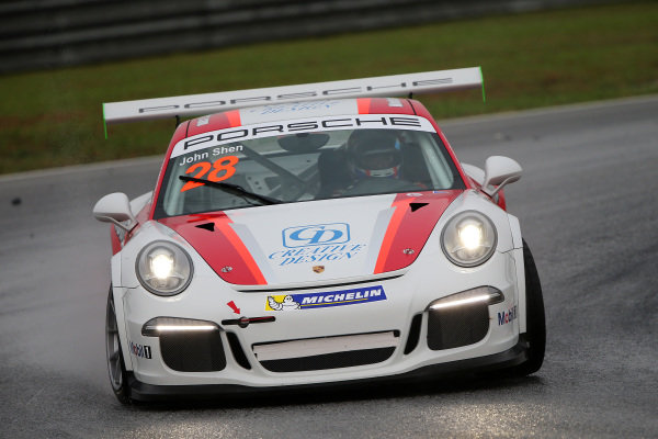 John Shen (HKG) Modena Motorsports. Porsche Carrera Cup Asia, Sepang, Malaysia, 28-30 March 2014.