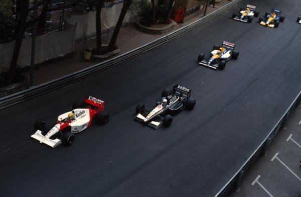 Ayrton Senna (BRA) McLaren MP4/6 led from  start to finish.