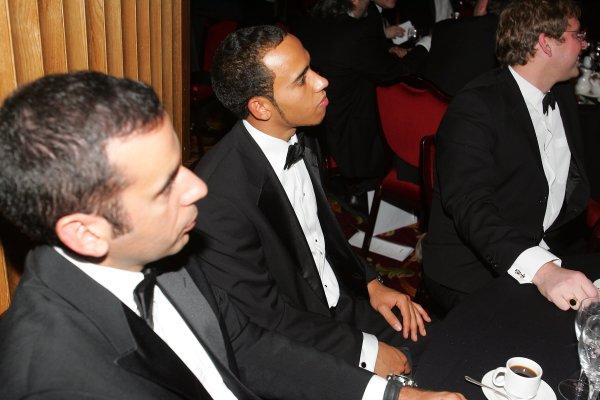2005 Autosport AwardsGrosvenor House, London. 4th December.Lewis Hamilton and friends.World Copyright: Glenn Dunbar/LAT Photographicref: Digital Image Only