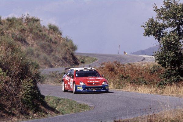 2003 World Rally Championship.Sanremo Rally, Italy. 2-5 October 2003.Sebastien Loeb/Daniel Elena (Citroen Xsara WRC), 1st position.World Copyright: LAT PhotographicRef: 35mm transparency 03RALLY11