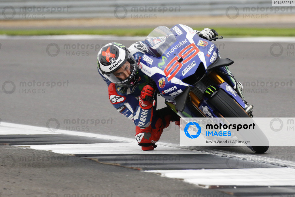 2016 MotoGP Championship.  British Grand Prix.  Silverstone, England. 2nd - 4th September 2016.  Jorge Lorenzo, Yamaha.  Ref: _W7_7730a. World copyright: Kevin Wood/LAT Photographic
