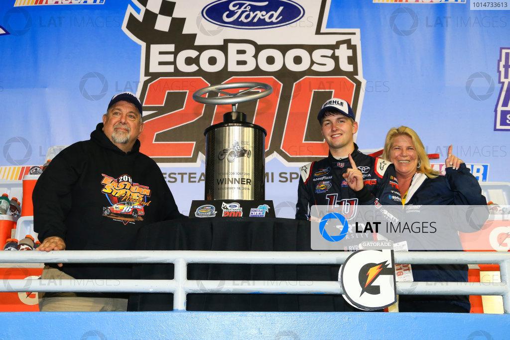 18 November, 2016, Homestead, Florida USA William Byron wins Ford EcoBoost 200 ©2016, Jim Fluharty / LAT Photo USA