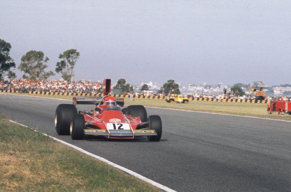 1974 Argentinian Grand Prix  Buenos Aires, Argentina. 11-13th January 1974.  Niki Lauda, Ferrari 312B3, 2nd position.  Ref: 74ARG10. World Copyright: LAT Photographic