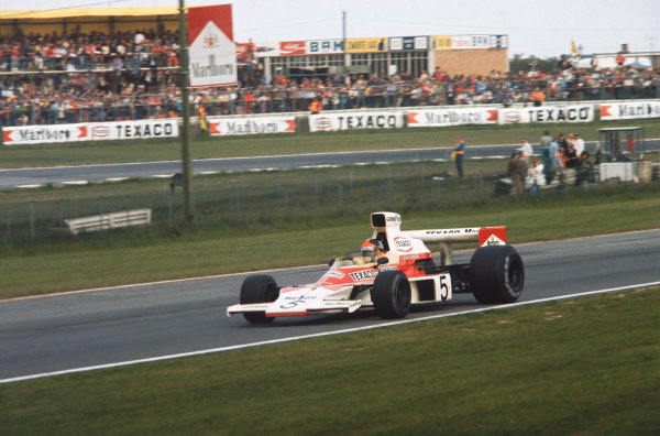 1974 Belgian Grand Prix  Nivelles-Baulers, Belgium. 10-12th May 1974.  Emerson Fittipaldi, McLaren M23 Ford, 1st position.  Ref: 74BEL02. World Copyright: LAT Photographic