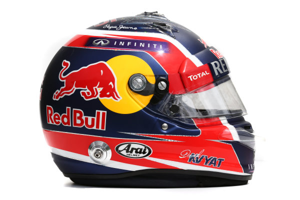 Albert Park, Melbourne, Australia. Helmet of Daniil Kvyat, Red Bull Racing.  Thursday 12 March 2015. World Copyright: LAT Photographic. ref: Digital Image 2015_Helmet_040