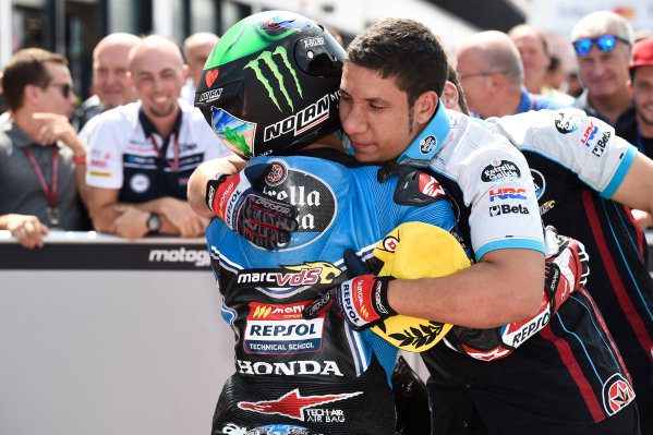 2017 Moto3 Championship - Round 13 Misano, Italy. Saturday 9 September 2017 Polesitter Enea Bastianini, Estrella Galicia 0,0 World Copyright: Gold and Goose / LAT Images ref: Digital Image 691115